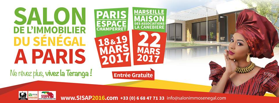 Afrique services immobiliers international organise la for Salon paris mars 2017