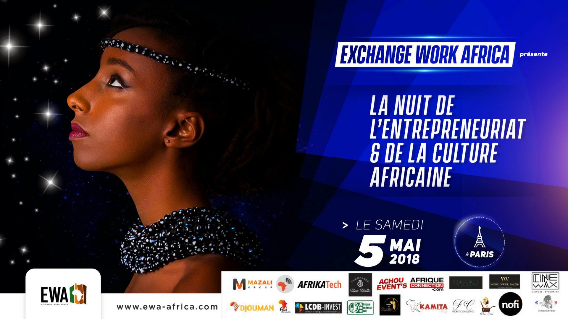 La Nuit De L'Entrepreneuriat Et De La Culture Africaine – Samedi 05 Mai 2018 à Paris